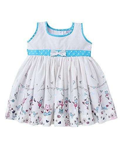 Mom's Girl,Girls Dresses,Circus Print Girls Frocks With Bow, Girls Frocks, Party wear dresses, New Born Dresses (6-12 Months)