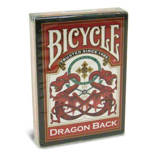 Bicicletta drago torna a giocare a carte - 1 mazzo rosso bicycle dragon back playing cards - 1 deck red
