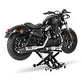 Cric moto ConStands Mid-Lift noir pour Harley Davidson Softail Deluxe (FLSTN/I), Softail Deuce (FXSTD/I), Softail Springer (FXSTS/I), Softail Standard (FXST/I)