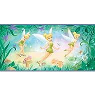 Imperial Disney Home df059271b Campanilla flores Border, morado 10.25-inch amplia