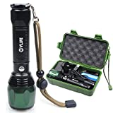 CVLIFE 1800Lm Zoomable CREE T6 LED Lamp Light Flashlight Torch Free 18650 & 2 Chargers