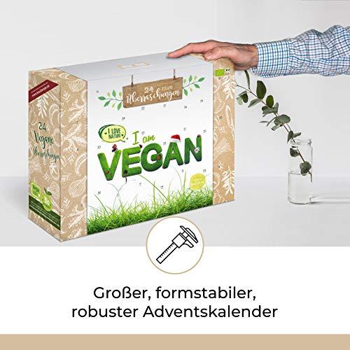 Bio VEGAN Advent-Kalender I veganer Weihnachtskalender mit 24 Überraschungen! Ausgefallener Adventskalender für Erwachsene Adventskalenderideen ohne Tierprodukte - 3