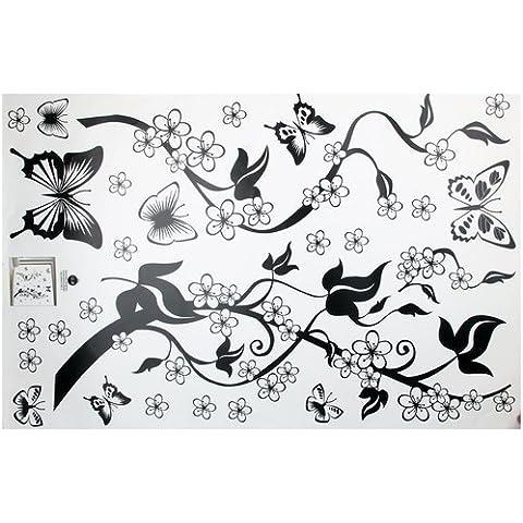Pegatina Adhesivo vinilo decorativo pared Mariposa Hiedra 90*60CM