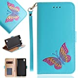 Samsung Galaxy A3 2017 Case , Samsung Galaxy A3 2017 Phone Case , Cozy Hut® Elegant Fashion Embossed Butterfly Pattern Design PU Leather Wallet Case with Silicone Cover for Samsung Galaxy A3 2017, Premium Flip Wallet with Card Slots Cash Holder Stand Function Magnetic Safety Clasp, Book Style Design Ultra Slim Fit Protective Folding Case Cover for Samsung Galaxy A3 2017