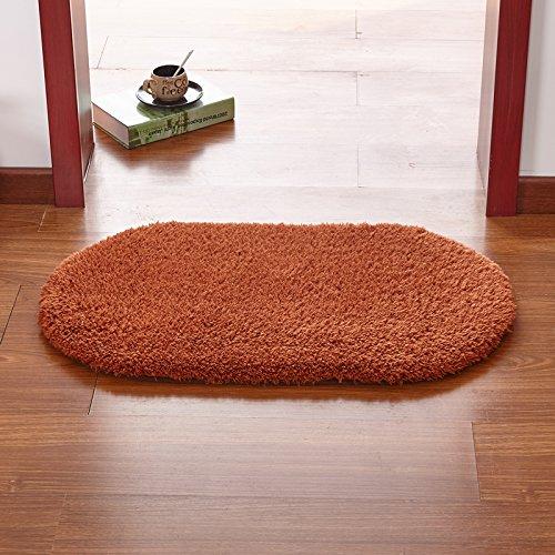 qwer Wan Jen ben nella porta per personalizzare i tappetini di ingresso camera da letto cucina porta ufficio Bagno Bagno piedini antiscivolo ,60 Mat x 120cm, cerchio caffè