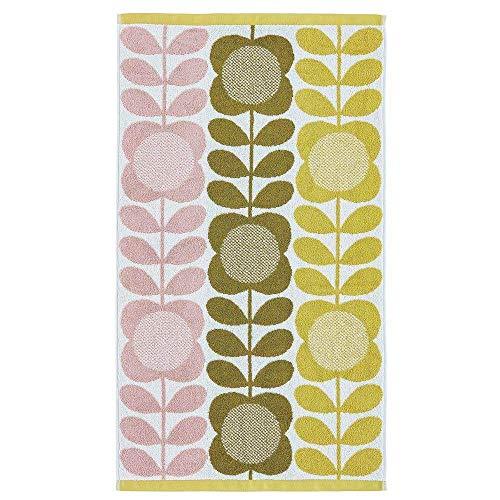 2 X Offiziell Lizenziert Designer Orla Kiely 100% Cotton Sommer Blumen Stiel Handtücher -