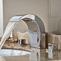 Olio TougMoo sfregato bronzo cascata bagno vasca lavello Rubinetto Rubinetto
