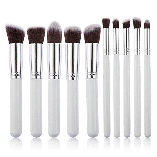 Hrph 10pcs Professionel Kits Pinceaux de Maquillage Visage Fondation Poudre Eyeshadow Blushes Outils Cosmetique Beauté