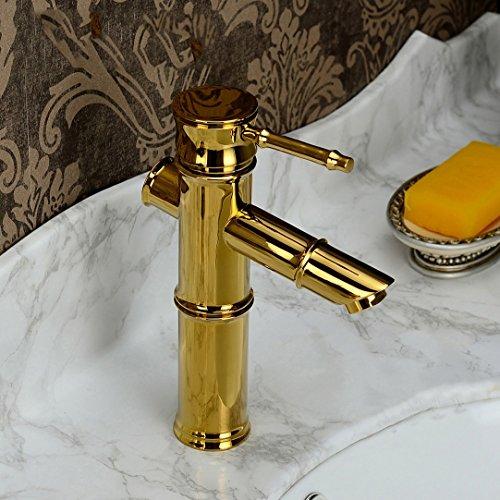 Preisvergleich Produktbild Cqq LED Wasserhahn Single-Loch-Hahn heiß und kalt alle Kupfer-Antiquitäten