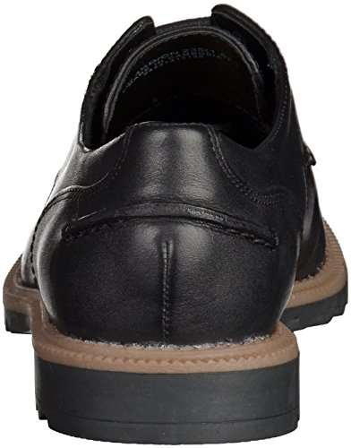 Clarks Griffin Mabel, Brogues Femme Cuir noirci