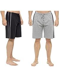 Hommes Paquet Double Shorts Salon Jersey Extensible Sommeil Vêtement De Nuit Pyjama Bas