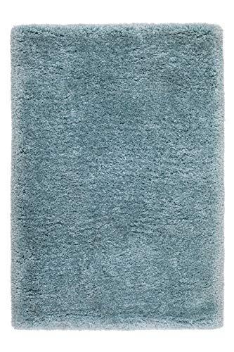 One Couture Fait Main Tapis Coton Tapis Poil Ras Fait Main Bleu Pastel - Bleu, 120cm x 170cm