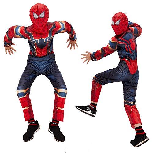 Costume Cosplay Tuta,A-Child/XS JUFENG New Adult Kids Spider-Man 2019 Costume di Halloween Tuta 3D Stampa Spandex Lycra Spiderman Tute da neve