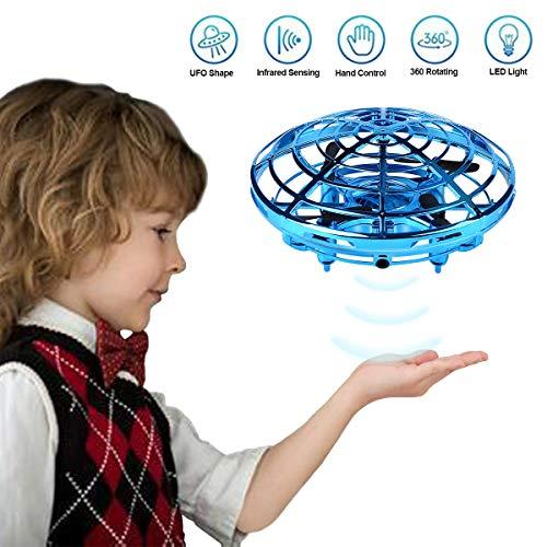 Mini Drohne für Kinder UFO - Quadcopter mit LED Licht - Intelligente Flying Ball Infrarot Induktion UFO - Fliegendes Spielzeug Geschenke für Jungen Mädchen Indoor Outdoor Fliegender Ball