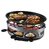 PLYY griglia elettrica barbecue coreano fornello portatile piastra in campeggio, antiaderente, si regola la temperatura 1500w comprende 6 padelle antiaderenti