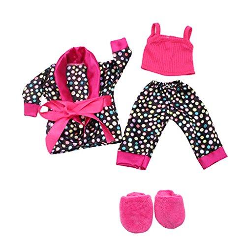 """MagiDeal 5pcs/Set Bequeme Puppen Schlafanzug Nachtwäsche Pyjama Outfit für 18"""" American Girl Puppe Zubehör"""