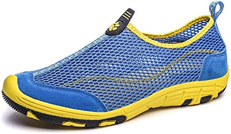HGDR Mens Sommer Outdoor Mesh Schuhe Leichte Schnell Trocknende Trainer Sport Sandalen Klettern Wandern Sneaker