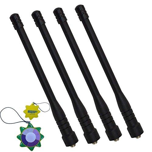 Visar-serie (HQRP 4-Stück VHF Antennemitgroßer Reichweite für Motorola SRX2200 / STX / Visar / XiR P8200 / XiR P8208 / XiR P8260 + HQRP Sonnenlichtmesser)