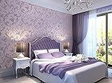NEIYITX Grüne Tapete Vlies Klassische Romantische Schlafzimmer Wohnzimmer Wandtapete Voller Lila Perle Weißen Kaffee Hellgelb,Purple