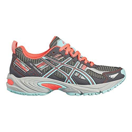 Asics Gel-Venture 5 Gs, Chaussures de Tennis Mixte Enfant, Noir CARBON / AQUA SPLAH