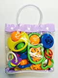 Non Toxic Colorful Rattle Toys For Kids / Toddler Set of 4 Peice By Instabuyz
