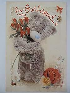 """ME TO YOU TATTY TED-BOUQUET DI ROSE ROSSE PER BIGLIETTI D'AUGURI, SCRITTA """"MY VALENTINE"""