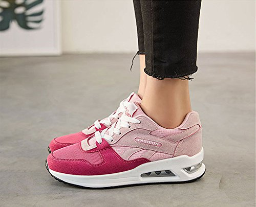 Peggie House,Femmes Chaussures de Course Sports Fitness Gym athlétique Baskets Sneakers Chaussures de Running 35-40 Rose Pink