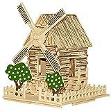 Kinder Brillante Geschenk Spielzeug 3D-Puzzles Aus Holz DIY Windmühle Häuschen Zusammengebaut