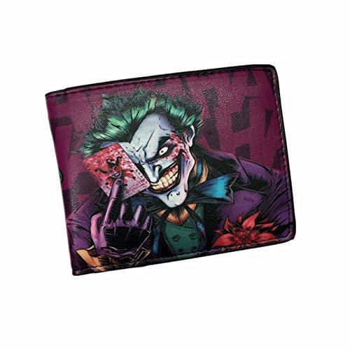 Impresionante Batman el Joker sonriente Haha Bi-fold cartera
