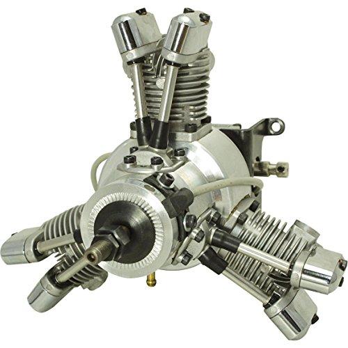 SAITO FG-19R3 BENZIN MOTOR 3-ZYLINDER STERNMOTOR MIT ELEKTRONISCHER ZÜNDUNG (Motor Saito)