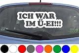 wDesigns Autoaufkleber ICH WAR IM Ü-Ei Smart kleines Auto Aufkleber Decal Heckscheibe