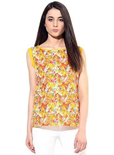 Jaipur Kurti Pure Cotton Graphic Print Sleeve less Multicolor Kurti(JK2683_Multicoloured_Large)