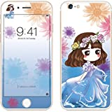 BEESCLOVER Screen Protector 2.5D Arc Edge Cartoon Flower Fairy Style Front & Rear Colorful Full Protective Tempered Glass Film 9# for iPhone 6/6S Plus