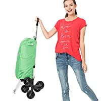 MEYLEE Lightweight Shopping Trolley Folding 6 Wheel Large Capacity Shopper - Insulation and Waterproof Design
