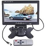"BW 7 ""TFT LCD Farbe 2 Video-Eingang Auto Rückfahrkamera Monitor Kopfstütze DVD VCR-Monitor"