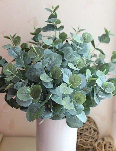 """17,7"""" cinco sucursales quince jefes de planta Artificial Conjunto de 1 hojas de eucalipto"""