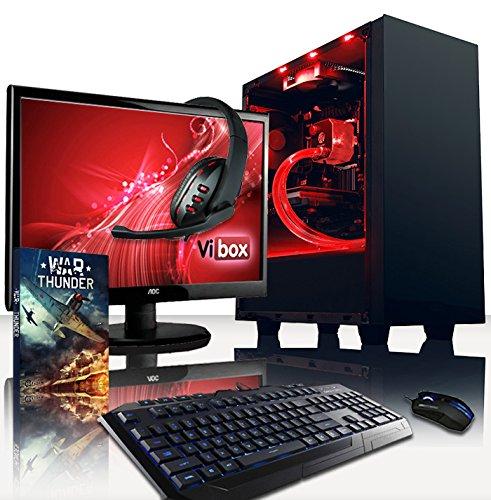 VIBOX Warrior Komplett-PC Paket 4.112 Gaming PC - 4,0GHz AMD FX 6-Core CPU, RX 460 GPU, leistungsfähig, Wassergekühlter Desktop Gamer Computer mit Spielgutschein, 22