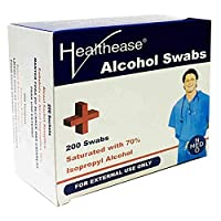 Healthease Pack of 200 Alcohol Swabs