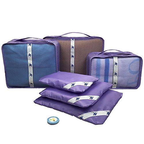 Love Nest Aufbewahrungswürfel für Reisen mit Wäschesack, 6 Stück bronze