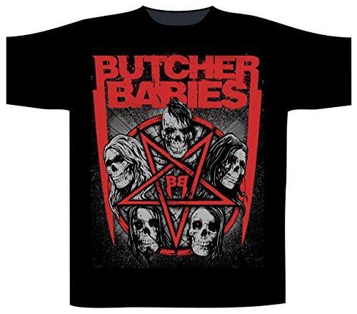 Butcher Babies Star Skull Maglietta Schwarz L