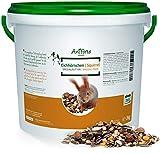 AniForte Wildlife Premium Eichhörnchenfutter 2 kg für Eichhörnchen und Streifenhörnchen - Naturprodukt Mischung, besondere und artgerechte Eichhörnchen Fütterung - Unsere Spezial Futtermischung