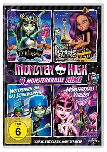 Monster HighTM - 4 monsterkrasse Filme  (13 Wünsche & Scaris & Wetrrennen um das Schulwappen & Monsterkrass verliebt) [4 DVDs]