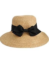 458a020276a548 UPhitnis Sonnenhut Damen Faltbar - Sommer Strand Strohhut | Brim Cap mit  Weben Textur | Größe