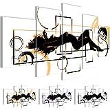 Bilder 200 x 100 cm - Abstrakt Bild - Vlies Leinwand - Kunstdrucke -Wandbild - XXL Format - mehrere Farben und Größen im Shop - Fertig zum Aufhängen - !!! 100% MADE IN GERMANY !!! - Frau Erotisch 300251a