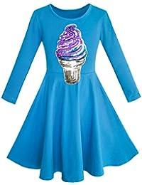 Mädchen Kleid Eule Ice Sahne Schmetterling Pailletten Täglich Kleiden Gr. 116-158