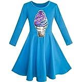 Sunboree Mädchen Kleid Eule Ice Sahne Schmetterling Pailletten Täglich Kleiden Gr. 158