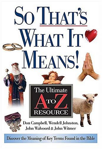 So That's What It Means! (Ultimate A to Z Resource)
