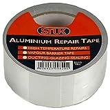 STUK ruban isolant et pour réparation de l'aluminium, argenté 50mm x 25m, AF5025R