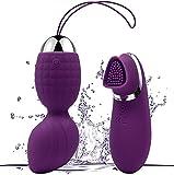 Mifine Liebeskugeln mit Vibration Bullet-Vibratoren drahtlose Fernbedienung Adult Sexspielzeug Silikon Vibro Ei (Lila)