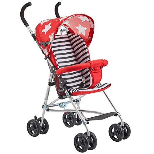 ALIFE Kinderwagen Leichtgewicht Von Geburt an Falten Kinderwagen Kinderreisebuggy Reha-Buggys,Red